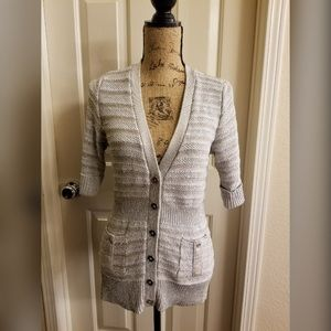 Silver and Gold Buttoned Cardigan
